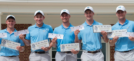 UNC showing of their scorecards after record-setting showing <br>(UNC Athletics Photo)