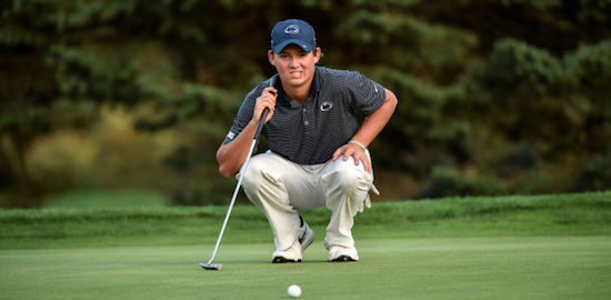 Charles Huntzinger led Penn State to a co-medalist finish <br>(Penn State Athletics Photo)