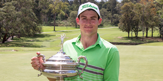 Daniel Gale won the Keperra Bowl in his fifth attempt <br>(Golf Queensland Photo)