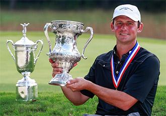 Matt Parziale with the trophy