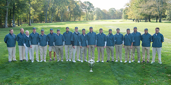 Team Massachusetts and the trophy that has been in their possession since 2004<br>(MGA photo)