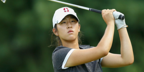 Stanford's Andrea Lee is 2-under and T6 after the first day of play <br>(Twitter Photo)
