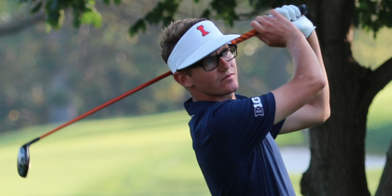 Illinois senior Dylan Meyer shares medalist lead <br>(Illinois Athletics Photo)