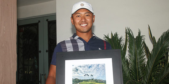 Marc Reyes shot back-to-back 68s at San Clemente GC<br>(Eric Heinz/San Clemente Times photo)