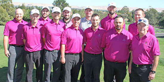 The NCGA amateur team fought hard but came up one point short<br>(NCGA photo)