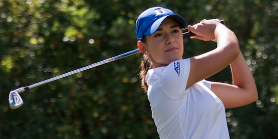 Co-medalist Ana Belac of first place Duke <br>(Duke Athletics Photo)