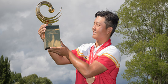 Lin is the 3rd Chinese player to win the Asia-Pacific Amateur<br>(AAC photo)