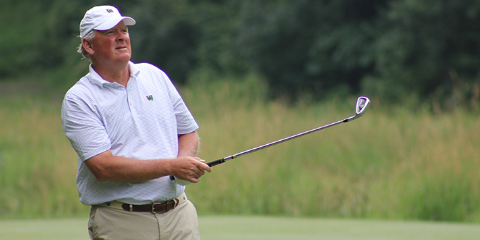 Gene Elliot leads after a 3-under 69 <br>(Iowa Golf Association Photo)