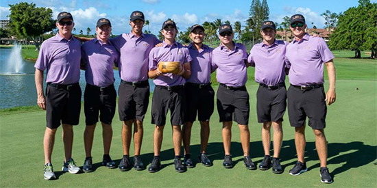 The victorious LSU Tiger golf team<br>(LSU photo)