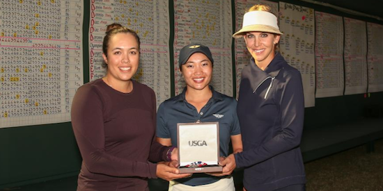 Lauren Greenlief (L), Marissa Mar (C) and Katie Miller (R) share medalist honors <br>(USGA Photo)
