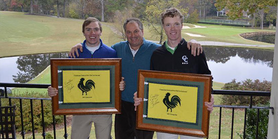 Mitchell Davis (L) and Harry Reynolds (R), the<br>2017 Chanticleer National Four-Ball champions