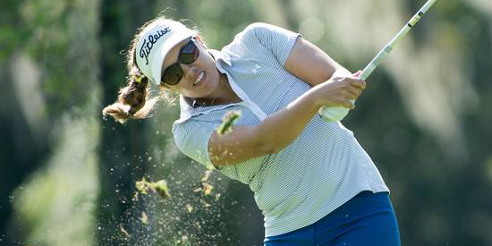 Co-medalist and 2015 champion Laura Greenlief is on to the round of 32<br>(USGA photo)
