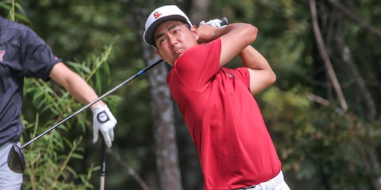 Justin Suh sits atop the U.S. men's rankings <br>(USC Athletics Photo)