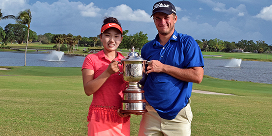Winners Lucy Li (L) and Garrett Barber (R) <br>(AJGA Photo)