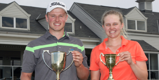Champions Blake Collyer (L) and Dee Russell (R) <br>(Twitter Photo)