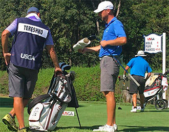 Justin Tereshko at the U.S. Amateur