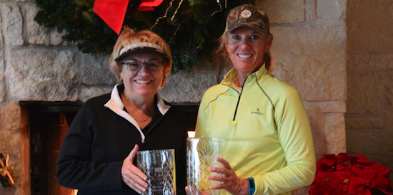 The championship duo of Joanna Davis and Marian Barker <br>(WTGA Photo)