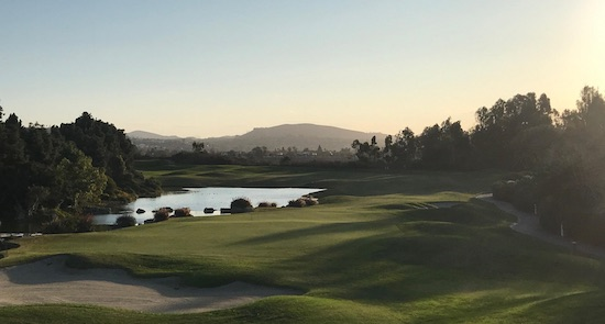 The view from the clubhouse at Aviara at No. 18