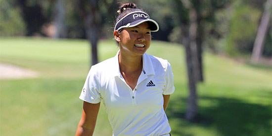 Yujeong Son is in the same position she was in last year when she went on to win<br>(AJGA photo)