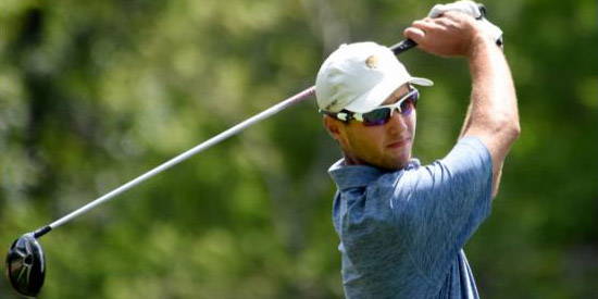 Jacob Bergeron had the low round of the day by four shots to jump into the 54-hole lead<br>(Augusta Chronicle photo)