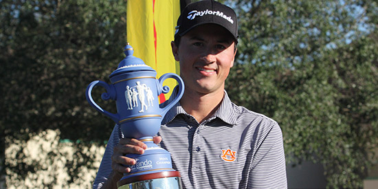 Ryan Knop closed with rounds of 65-66 to win by 4<br>(Orlando International Amateur photo)