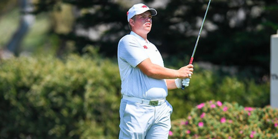 Mason Overstreet birdied nine-times in the final round <br>(Patriot All-America Photo)