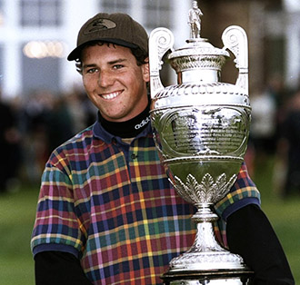 Sergio Garcia with the British Amateur Trophy in 1998