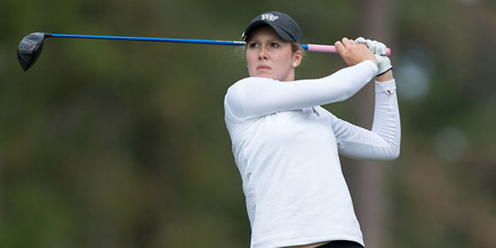 Emilia Migliaccio is seven up with one round to go<br>(Wake Forest photo)