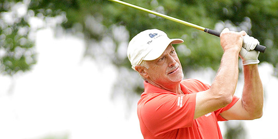 Doug Hanzel is off to a good start at the Hammock Beach Resort<br>(High Point Enterprise photo)