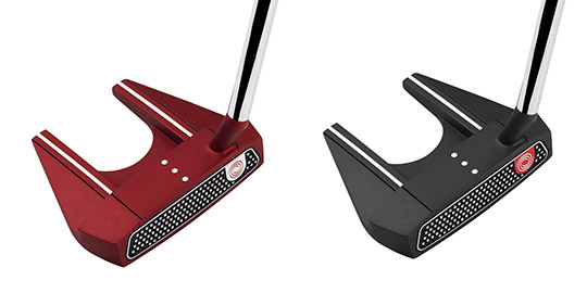 The Odyssey O-Works 7S Red and Black Putters