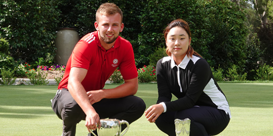 Champions Gian-Marco Petrozzi (L) and Ina Yoon (R) <br>(NSW Photo)