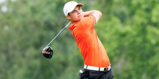 Oklahoma State junior Hayden Wood leads the individual standings <br>(NCAA Photo)