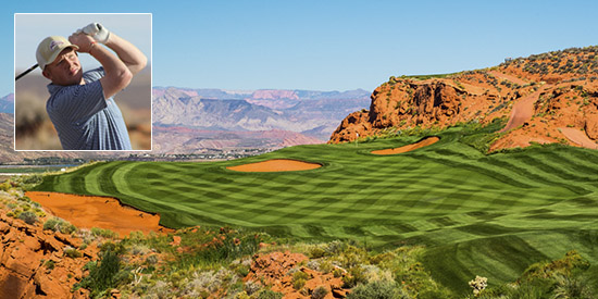 Mitchell Schow shot 67-68 at Sand Hollow (Sand Hollow Resort photo)