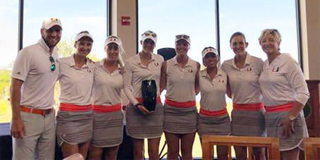 The victorious Miami Hurricanes (Canes Golf photo)