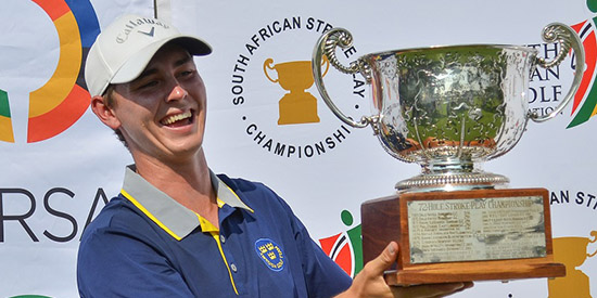 Oliver Gillberg broke the tournament record by five shots (GolfRSA photo)