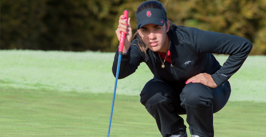 Arkansas junior Mari Fassi birdied five-times during her first round <br>(Arkansas Athletics Photo)