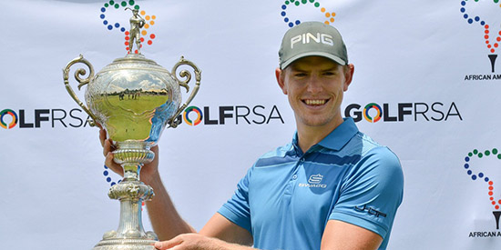 James Du Preez's determination paid off at the African Stroke Play (GolfRSA photo)