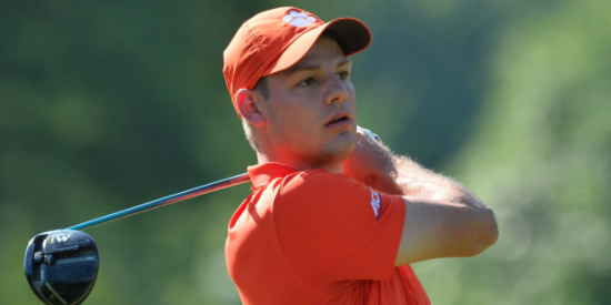 Clemson sophomore Doc Redman birdied the last two holes to help Clemson <br>to their first win of the year <br>(Clemson Athletics Photo)