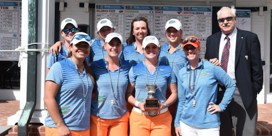 Florida won their first event of the season on Tuesday <br>(Florida Athletics Photo)