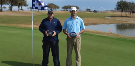 The winners in a playoff Braden Graham and Luke Antonelli <br>(TXGA Photo)