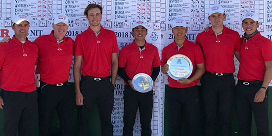 The victorious UNLV men's golf team<br>(UNLV photo)