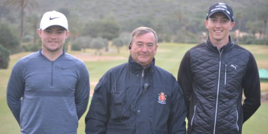 Finalist Alex Fitzpatrick (L) and Billy Mckenzie (R) before title match<br>(Royal Spanish Golf Federation Photo)