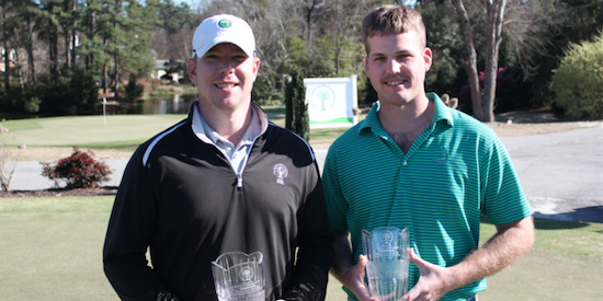 The winning duo of Weston Bell and Robert Lutomski <br>(South Carolina Golf Association)