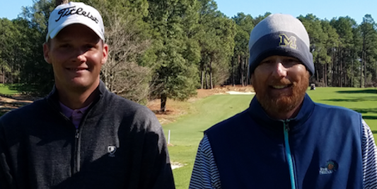 Scott Harvey (L) and Brian Westveer (R) have team for five <br>Pine Needles Invitational titles <br>(Photo Courtesy of Graham Gilmore)