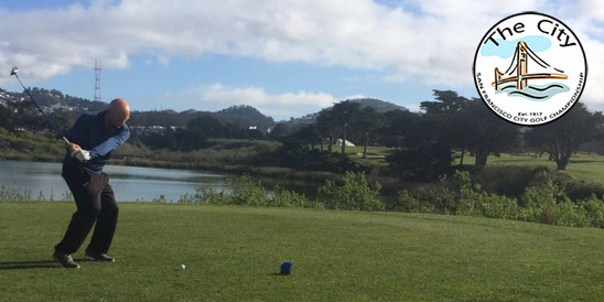 Jason Anthony tees off at TPC Harding Park
