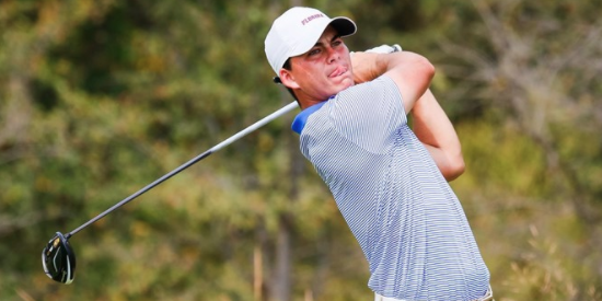 Florida junior Gordon Neale was the low Gator at 2-under <br>(Florida Athletics Photo)