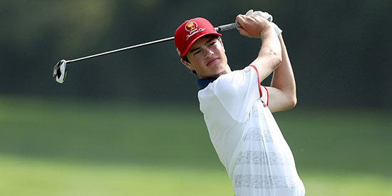 Cole Hammer pulled ahead on Saturday but doubled 18 (Golf Digest photo)