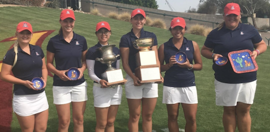 Arizona has won consecutive tournaments <br>(Arizona Athletics Photo)