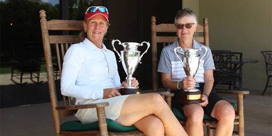 Mary Jane Hiestand (L) & Super Senior champ Christine Hunt (FSGA photo)