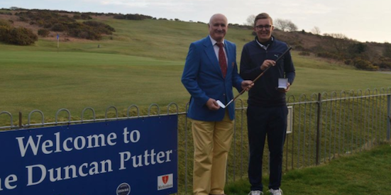 Duncan Putter winner Viktor Hagborg-Asp (R) <br>(Southerndown Golf Club Photo)